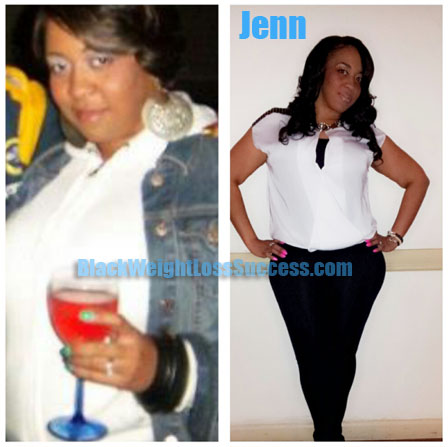 Jenn before and after weight loss