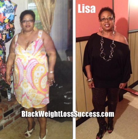 Lisa lost 59 pounds | Black Weight Loss Success