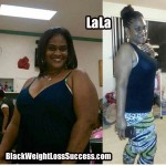 LaLa lost 72 pounds