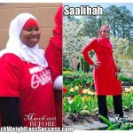 Saalihah lost 91 pounds