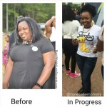 Kennesha lost 76 pounds