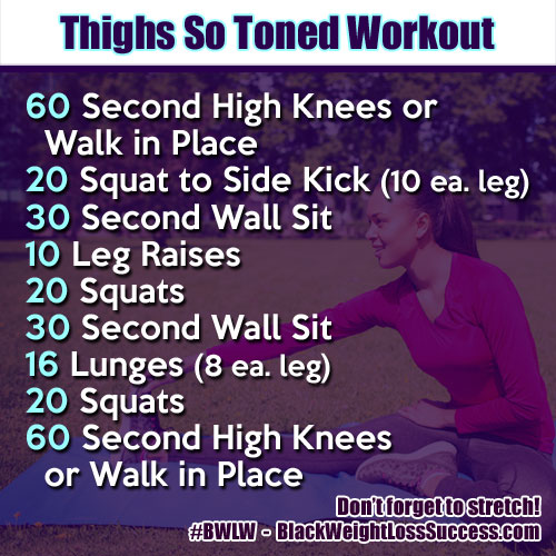 Thighs So Toned Workout | Black Weight Loss Success